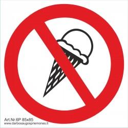 Draudžiama įnešti, vartoti ledus 462