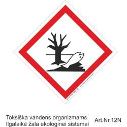 Toksiška vandens organizmams. Ilgalaikė žala ekologinei sistemai 471