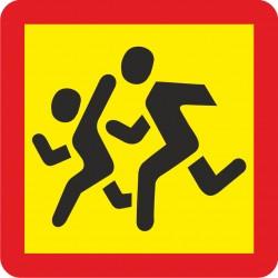 Vaikų grupę vežančios transporto priemonės ženklas 499