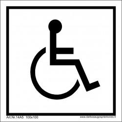 WC naudotis žmonėms su negalia 100*100/Lipd. 502