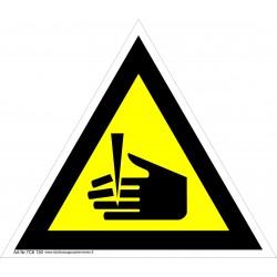 Įspėjimas apie pavojų nusikirsti pirštus 461