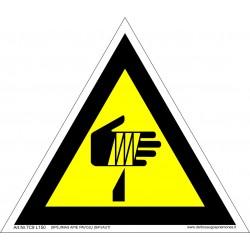 Įspėjimas apie pavojų įsipjauti 461