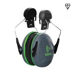Apsauginės ausinės tvirtinamos prie šalmo