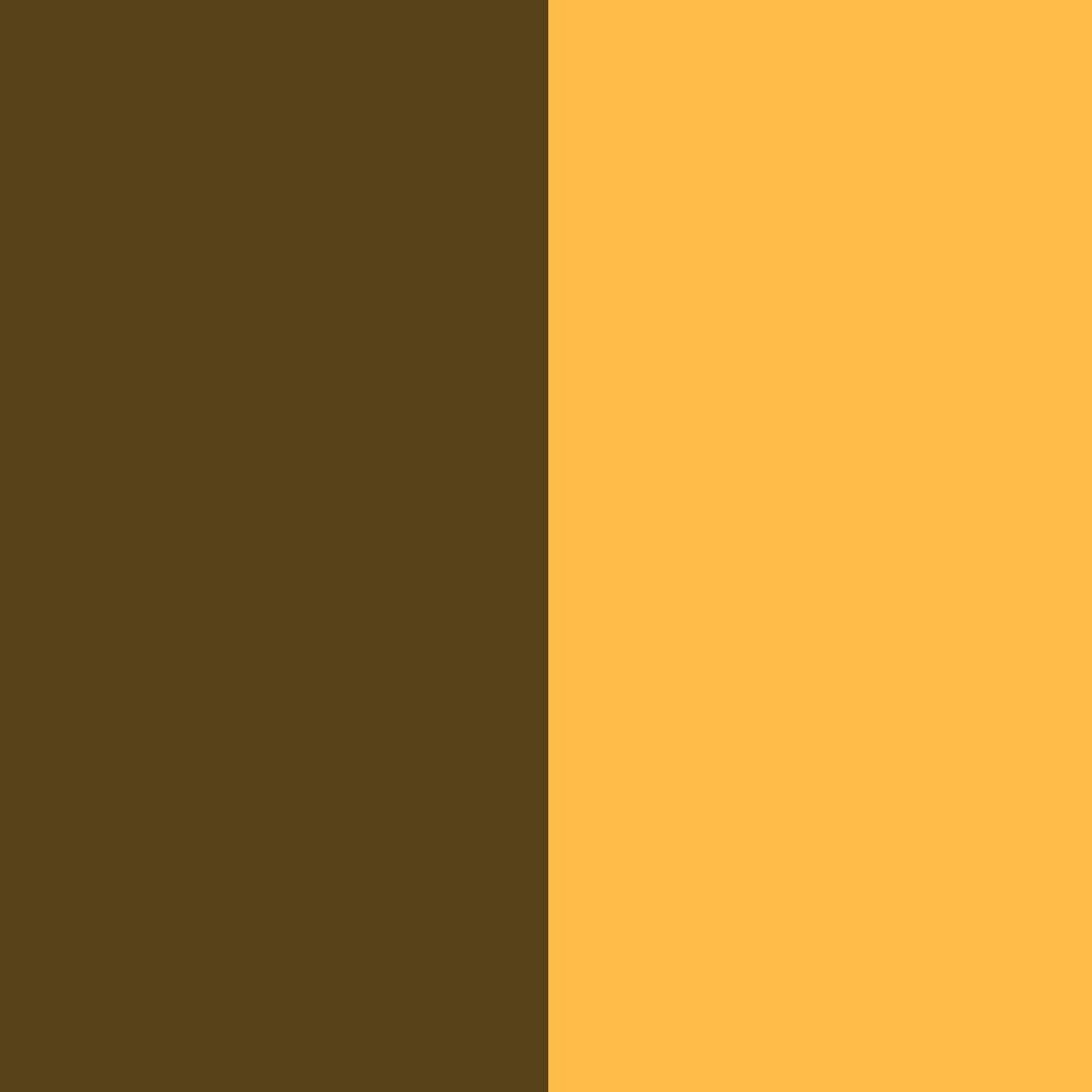 geltona su rudomis detalėmi