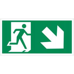 Išėjimas žemyn į dešinę