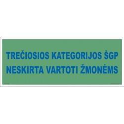 Trečiosios kategorijos ŠPG neskirta vartoti žmonėms 502