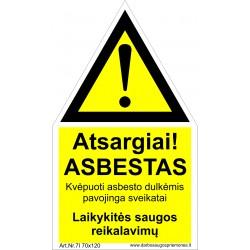 Atsargiai! Asbestas 461