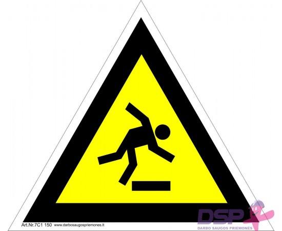Įspėjimas apie pavojų užkliūti 461