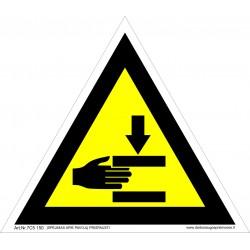 Įspėjimas apie pavojų prispausti 461