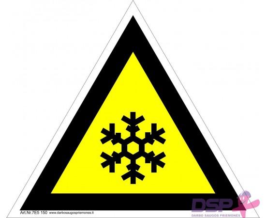 Įspėjimas apie žemą temperatūrą 461