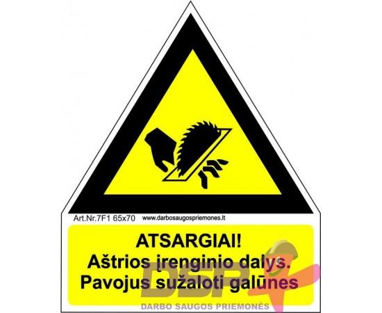Atsargiai! Aštrios įrenginio dalys (Kreizas) 461