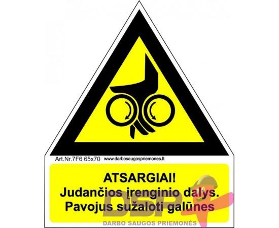 Atsargiai! Judančios įrenginio dalys (Volai) 461