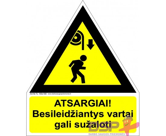 Atsargiai! Besileidžiantys vartai gali sužaloti 461