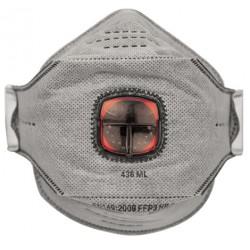 Sulankstomas respiratorius su vožtuvu ir anglies pluoštu