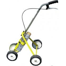 2/4 ratų vežimėlis, skirtas dažams.
