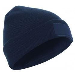 Šilta kepurė su specialia vieta logotipui