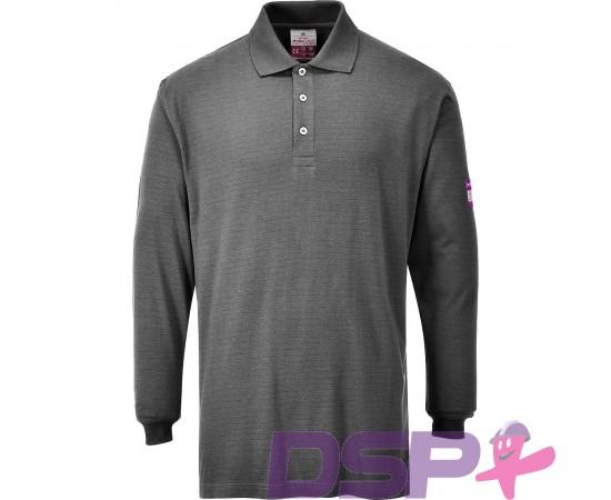 Ugniai atsparūs, antistatiniai polo marškinėliai ilgomis rankovėmis