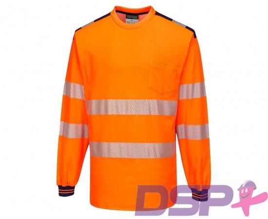 Signaliniai polo marškinėliai ilgomis rankovėmis