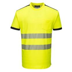 Signaliniai polo marškinėliai trumpomis rankovėmis.