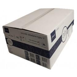 V forma sulankstyti popieriniai rankšluosčiai