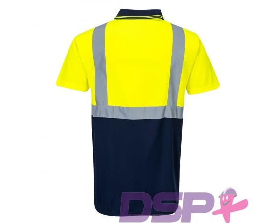 Dvispalviai signaliniai polo marškinėliai