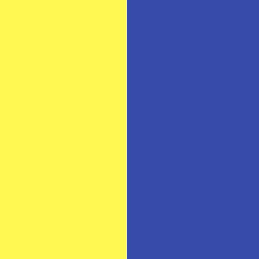 Geltona/rugiagėlių mėlyna